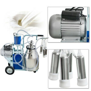 25l Electric Milking Machine For Cows W bucket Vacuum Pump 550w 110v Best Sell