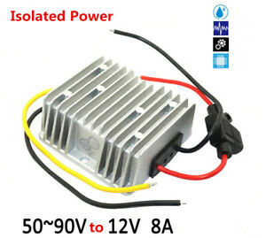 60 72 84v To 12v 8a 96w Isolated Power Dc Regulator Waterproof Power Module