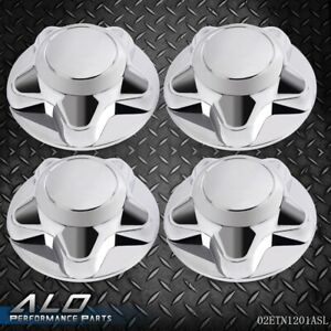 Chrome Wheel Hub Cap Center Cover Set Of 4 For 97 03 Ford F150 Expedition Rim