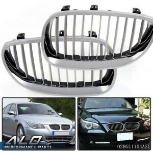 Chrome Front Hood Kidney Grille Grill For Bmw E60 E61 5 Series M5 2003 2010