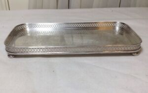 Vintage The Sheffield Silver Co Epc 9 80 Footed Reticulated Tray Made In Usa