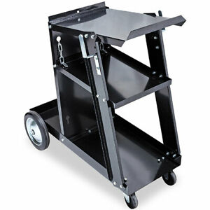 Eastwood 3 tier Welding Cart For Mig Tig Plasma Welder With Tank Storage