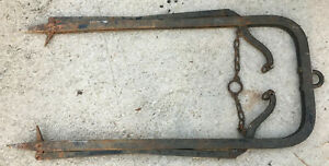 Myers Trolley Hay Fork Lift Vintage Antique Primitive Barn Iron Harpoon Spear