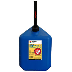 Midwest Can Flameshield Safety System Plastic Kerosene Can 5 Gal