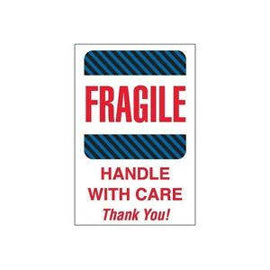 Tape Logic Labels fragile Handle With Care 4 X 6 Multiple 500 roll