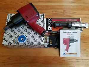 Chicago Pneumatic Cp9561 3 4 Inch Impact Wrench W Cp 828 3 8 Air Rachet New