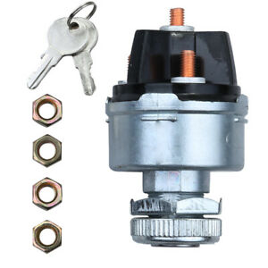 12v Universal Ignition Switch 2 Gm Style Keys 4 Position On Off Start Acc