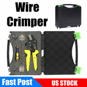 Self Adjustable Wire Crimper Crimping Pliers Professional Terminals Tool Kit Set