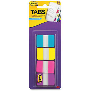 Post it 1 Solid Color Self stick Tabs