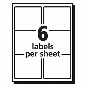 Avery Easy Peel Clear Shipping Labels 3 3x4 6 Packs