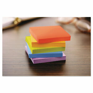 Post it Notes Super Sticky Pads In Marrakesh Colors 3 X 3 90 sheet 5 pack