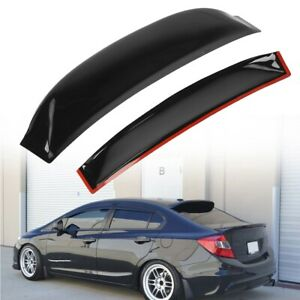 Car Rear Window Roof Wing Spoiler Visor Black For 06 15 Honda Civic 4dr Sedan