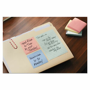 Post it Greener Notes Recycled Notes 3 X 3 Pastel 24 75 sheet Pads pack Pk