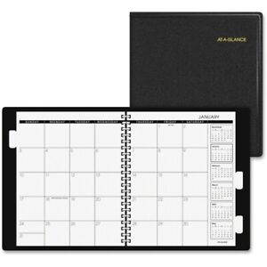 At a glance Three year Unruled Monthly Planner 9 X 11 Black Ea Aag7023605