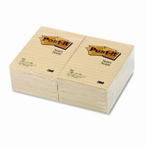 Post it Notes Original Notes 4 X 6 Canary Yellow 12 100 sheet Pads pack Pk