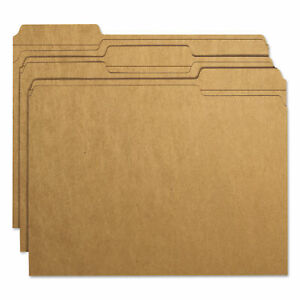 Smead Kraft File Folders 1 3 Cut Reinforced Top Tab Letter Brown 100 box B