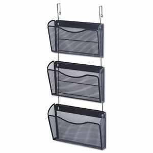 Mesh Three pack Wall Files With Hanger Letter Black