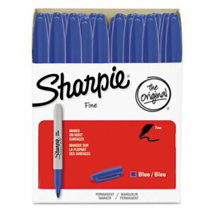 Permanent Marker Fine Point Blue 36 pack