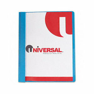 Universal Report Cover Tang Clip Letter 1 2 In Capacity Clear blue 25 box