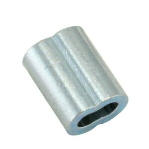 1 2 Wire Rope Aluminum Sleeves oval Or 8 Shape 100 box