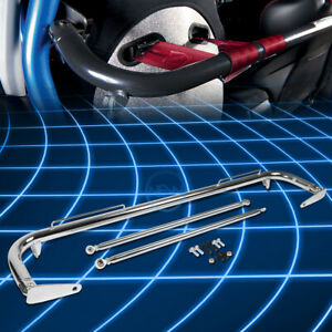 49 universal Racing Seat Belt Harness Bar Adjustable Chassis Support Rod Chrome
