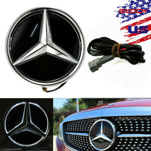 White Illuminated Car Led Grille Logo Emblem Light For Mercedes Benz Glc Gle Gls