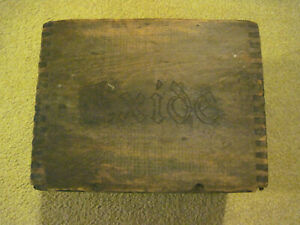 Ford Model A Model T Exide Wood Battery Box Rare Antique Dove Tail Orig