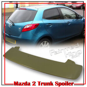 Painted For Mazda 2 3rd Hatchback K Window Roof Spoiler Gs Gx 2008 2014