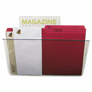 wall File Letter 13 X 7 Single Pocket Clear