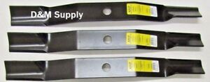 Set Of 3 Woods Finish Mower Blades 72 L306 Rm306 Rm600 13404 31306 13404kt