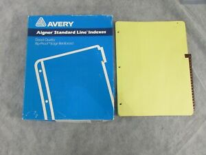 Lot Of 8 Avery 11327 Leather Style Daily Tab Index Dividers 12 31 Tabs