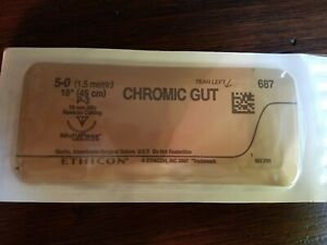 Look Chromic Gut Absorbable Sutures 5 0 P 3 For Practice Expired lot Of 7
