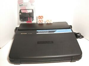 Sharp Portabl Intelliwriter 3100ll With New Ribbon And Correction Spools