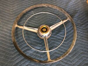 Lqqk Original Vintage Cadillac Caddy Steering Wheel W Horn Ring Car Automobile