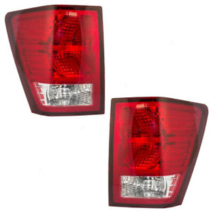 New Pair Set Taillight Taillamp Lens Housing For 2007 2010 Jeep Grand Cherokee