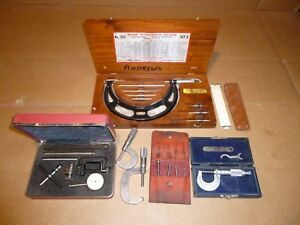 Starrett Brown And Sharp Picket Tool Lot Universal Dial Tester Precision