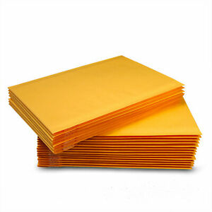 100 0 6x10 Kraft Paper Padded Bubble Mailers Envelopes Shipping Case Bags 6 x9