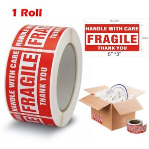 1 Roll 3x5 Large Fragile Stickers Handle With Care Mailing Labels 500 Per Roll