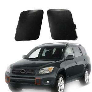 2x Front Left Right Bumper Tow Hook Eye Cover Cap Fit For Toyota Rav4 2006 2009