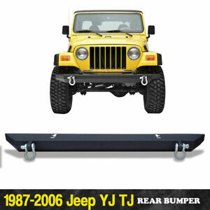For Jeep Wrangler 87 06 Tj Yj Rock Crawler Front Bumper W D ring Shackles