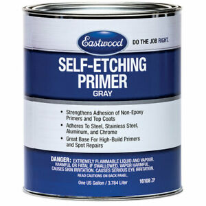 Eastwood Self Etch Primer Gray Steel Aluminum Chrome 96 Oz Rust Free Metal Clean