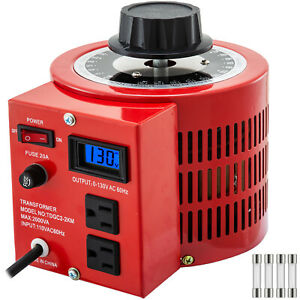 Bench Top 20 Amp Variable Auto transformer With Lcd Digital Display