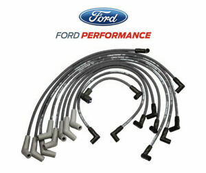50l 58l Mustang Ford Racing 9mm Engine Spark Plug Ignition Wire Sets Black