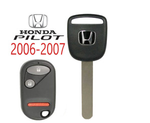 Honda Pilot 2006 2007 Ho03 Transponder Chip Key Remote Nhvwb1u523 Usa A