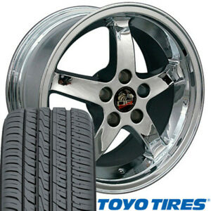 17 Wheel Tire Set Fit Ford Mustang Cobra Style Chrome Rims Toyo Proxes 4 Plus