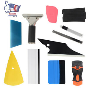 11pcs Car Window Tint Wrapping Vinyl Tools Squeegee Scraper Applicator Kits