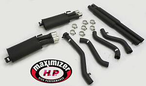 Maximizer High Black Catback Exhaust For 1992 1996 Chevy Corvette C4 5 7l Lt1