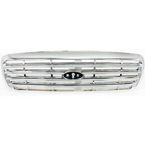 Grille For 98 2011 Ford Crown Victoria Chrome Plastic