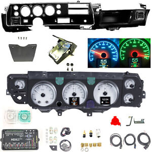 70 72 Chevelle Super Sport Ss Dash Conversion Kit Dakota Digital Hdx 70c cvl s