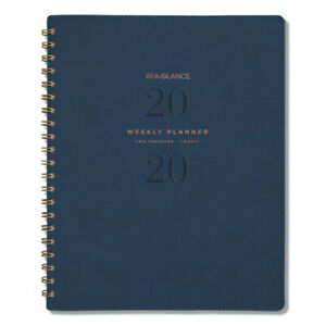 Signature Collection Firenze Navy Weekly monthly Planner 11 X 8 3 8 2020 2021